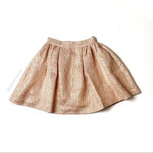 Kate Spade Rose Gold Pink Glitter Aimee Skirt 00